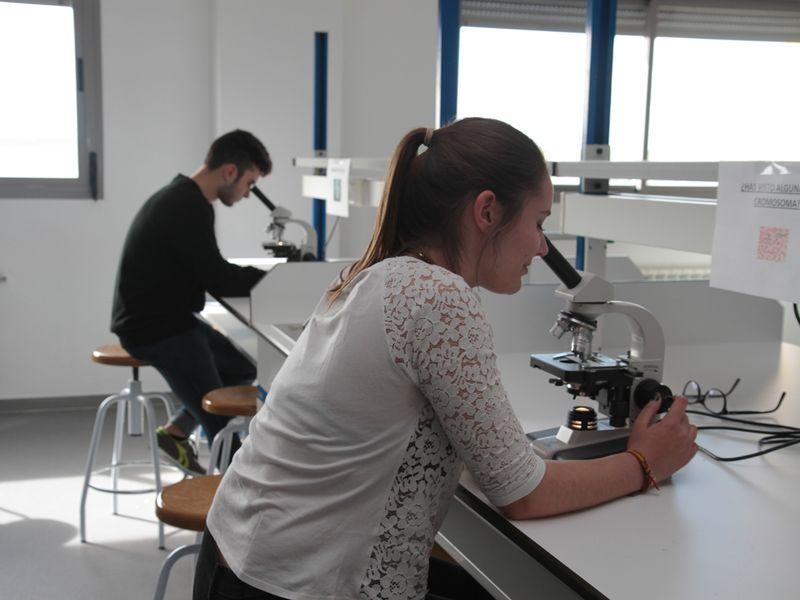 En el laboratorio de Bachillerato