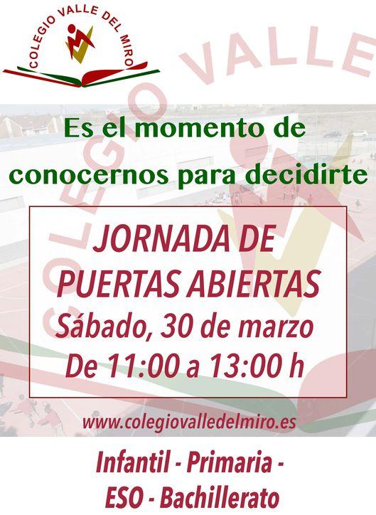 Jornadas de puertas abiertas de Infantil, Primaria, ESO y Bachillerato Valle del Miro Valdemoro