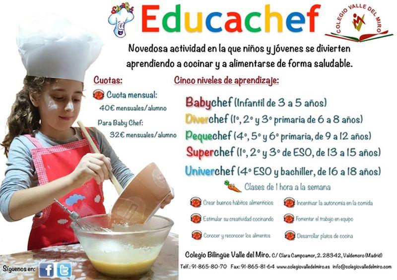 EducaChef en el Colegio Valle del Miro. Nueva Actividad Extraescolar