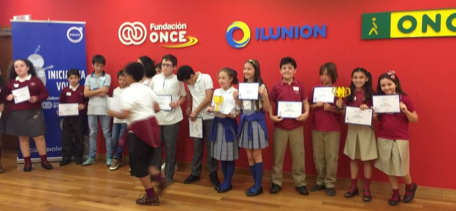 Nuestros alumnos de 5º de primaria ganan el concurso Iniciativa VOLVO