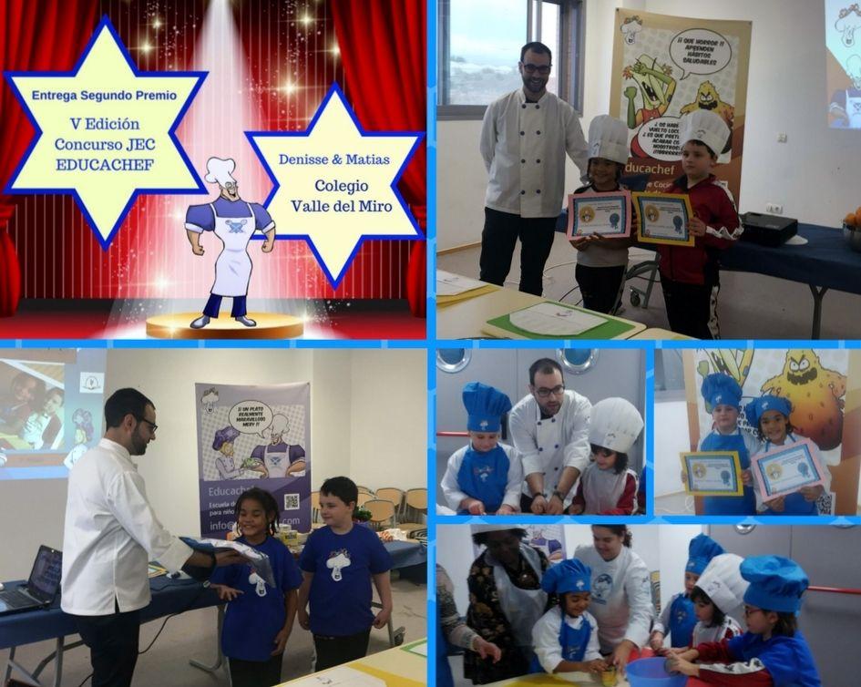 Denisse y Matias Ganadores del 2º premio Jovenes Estrellas de la Cocina V (EDUCACHEF)