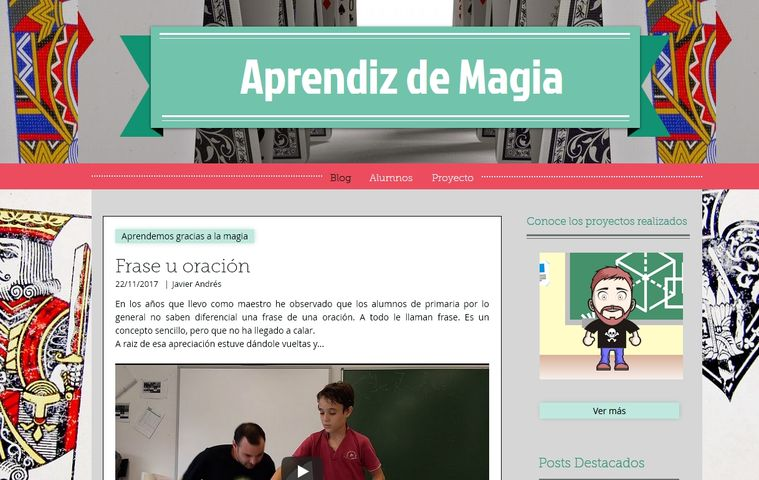 Página web Blog 'Aprendiz de Magia'