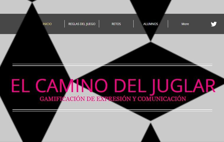 Página web 'El Camino del Juglar' colegio bilingue valle del miro valdemoro