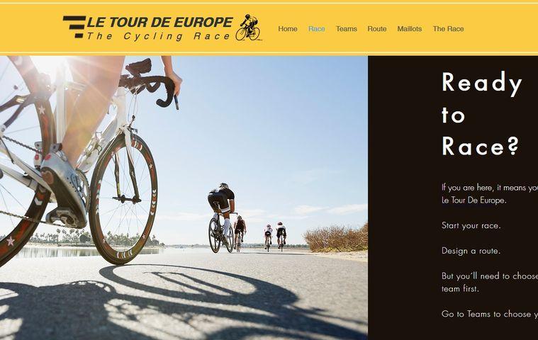 Página web 'Le Tour de Europe'