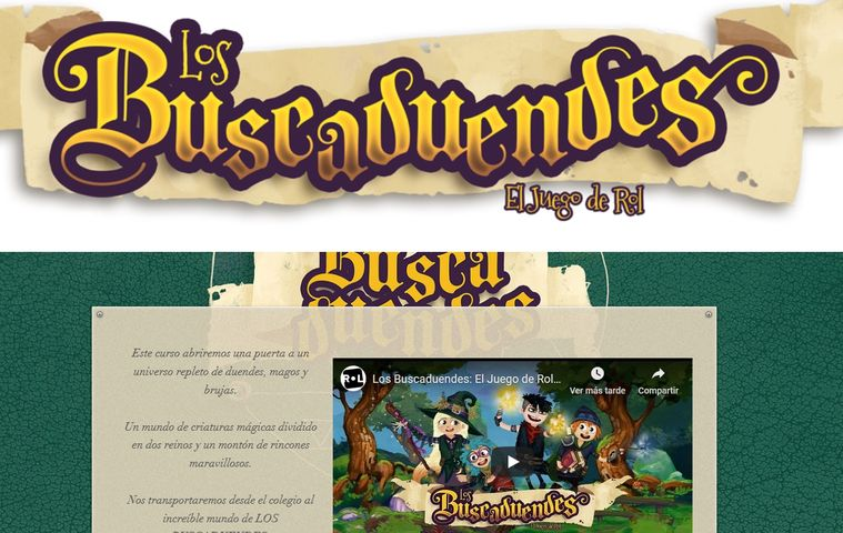 Página web 'Los Buscaduendes' colegio bilingue valle del miro valdemoro