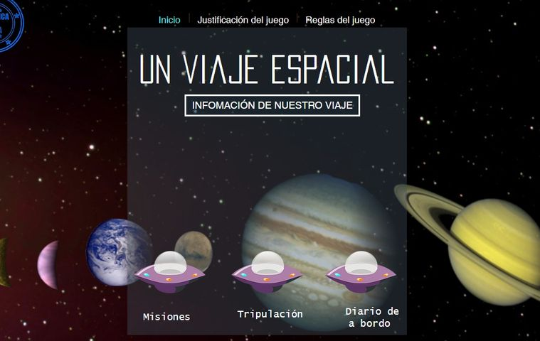 Página web 'Un Viaje Espacial' colegio bilingue valle del miro valdemoro
