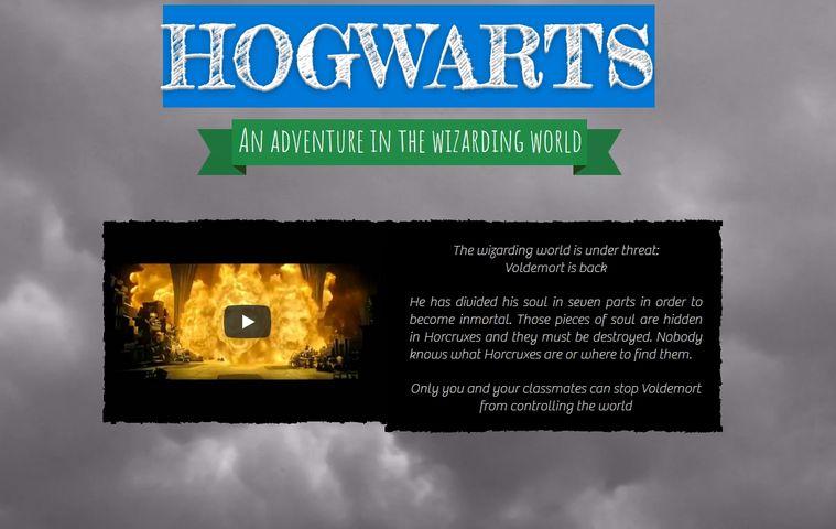 Página web HOGWARTS: An adventure in the wizarding world colegio bilingue valle del miro valdemoro