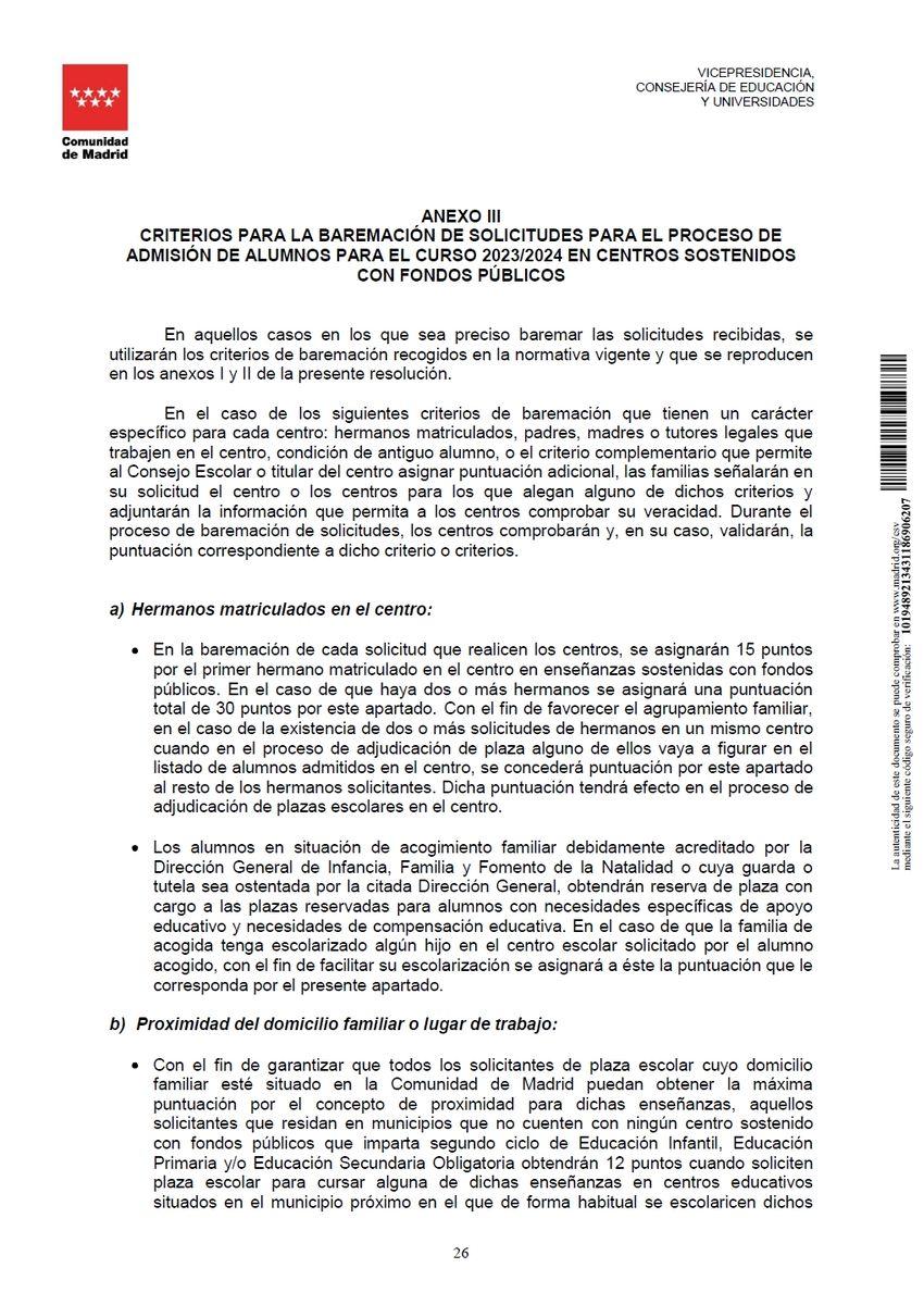 Criterios para el baremo de solicitudes pág. 1