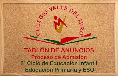 Proceso de admisión Educación Concertada Curso 2021/2022